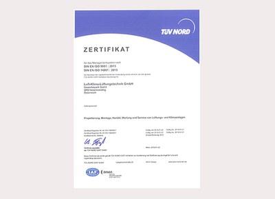 Zertifizierung – ISO 9001 und 14001